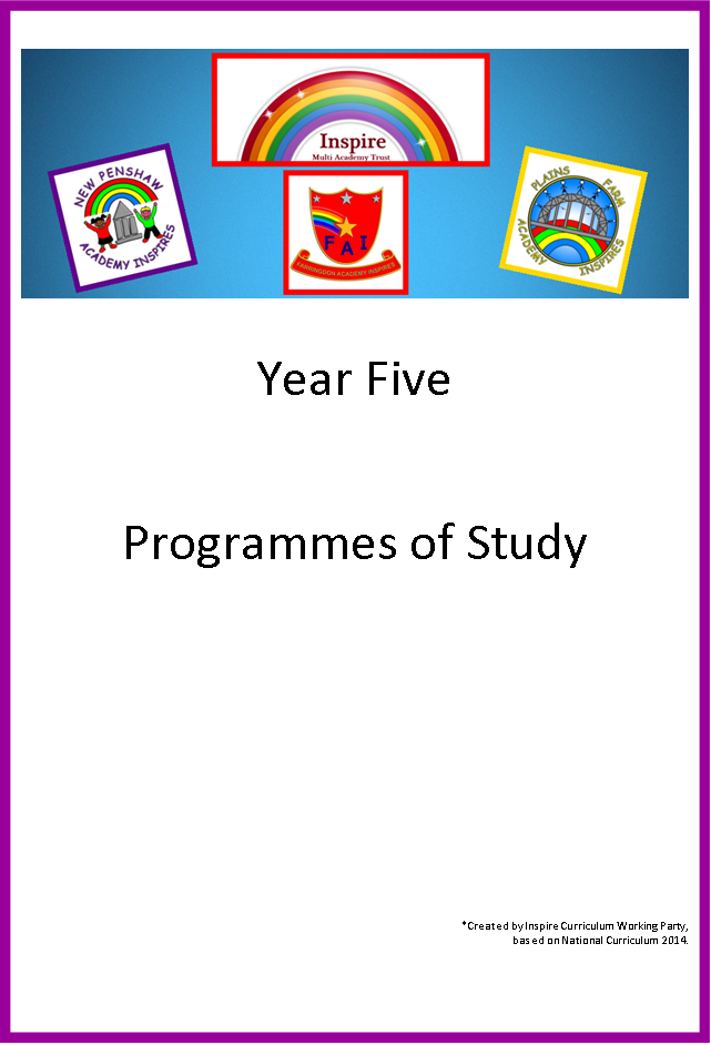 Year 5 Programme of study