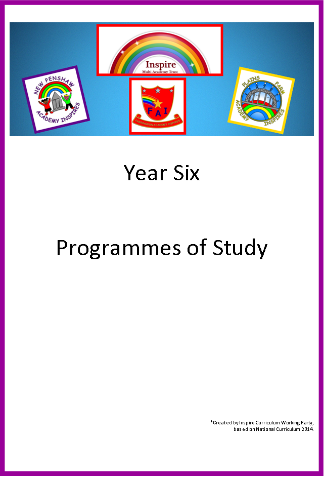 Year 6 Programme of study