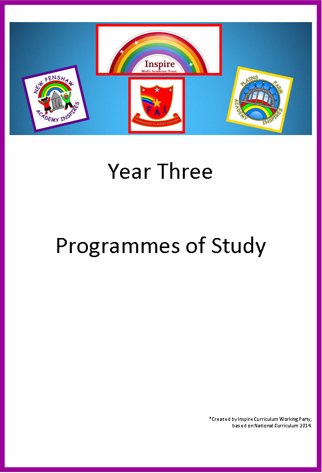 year 3 Programme of study